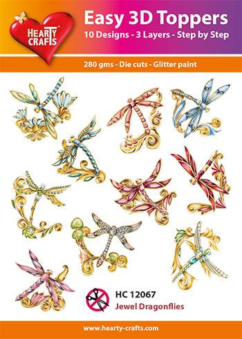 Easy 3D Toppers - Jewel Dragonflies