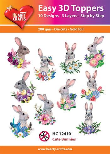 Easy 3D Toppers - Cute Bunnies