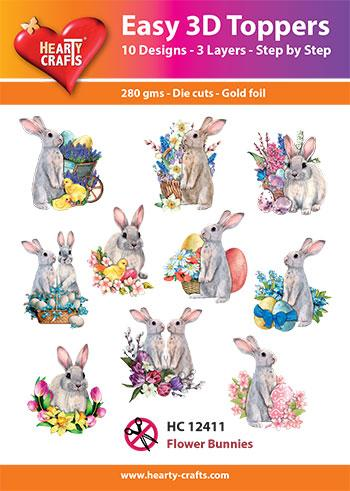 Easy 3D Toppers - Flower Bunnies