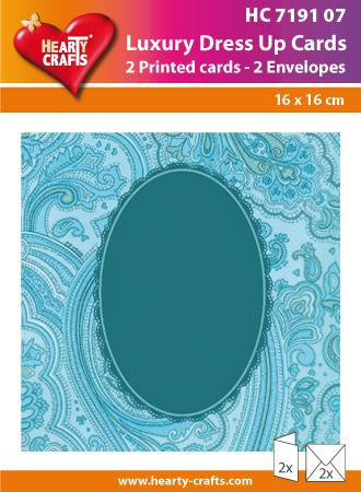 Luxury Dress Up Cards - Blue Oval