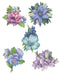 Easy 3D - Flowers - Blue/Violet
