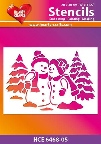 Hearty Crafts Snowman Stencil 8 x10