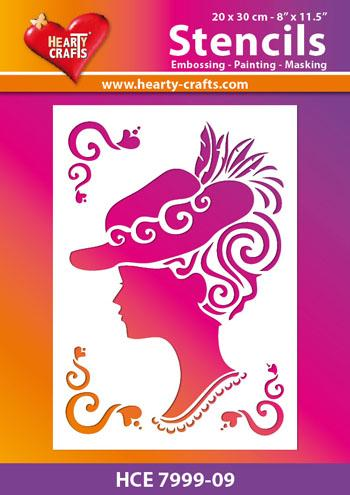 Hearty Crafts Fancy Lady Stencil 8 x10
