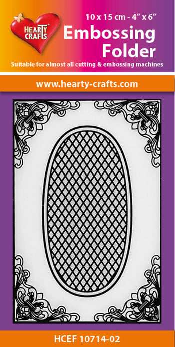 Hearty Crafts Embossing Folder Oval Background 4 X 6