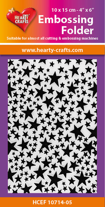 Hearty Crafts Embossing Folder 4 X 6 -  Star