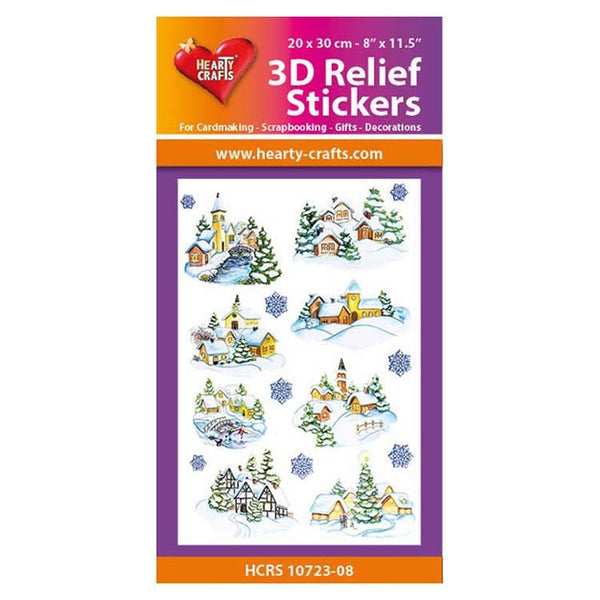 Hearty Crafts Hearty Relief Stickers - Winter Village A4