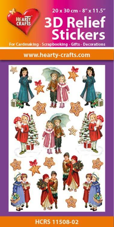 Hearty Crafts 3D Relief Stickers A4 - Christmas Children