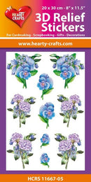 3D Relief Stickers A4 - Bouquets of Carnations 5