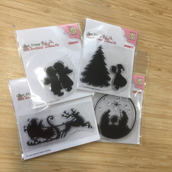 Pin It Seasonal Silhouette Clear Stamp Collection - 4 Stamps Total