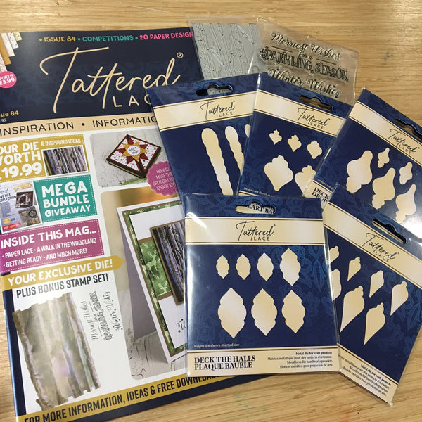 Tattered Lace 29 Bauble Dies + Magazine Issue 84 + Free Gift Bundle