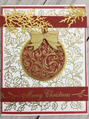Merry Christmas Vines Rubber Cling Stamp