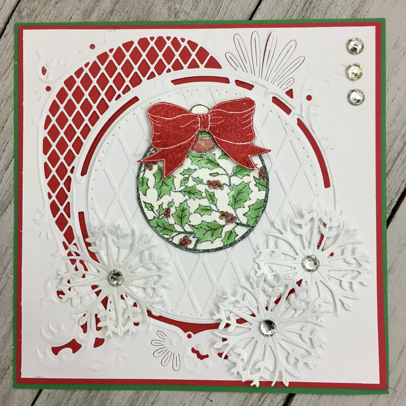 Holly Ball Rubber Cling Stamp