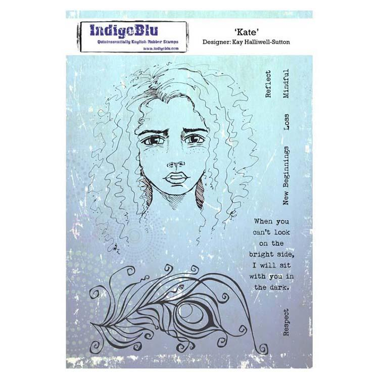 Indigoblu Kate A5 Red Rubber Stamp