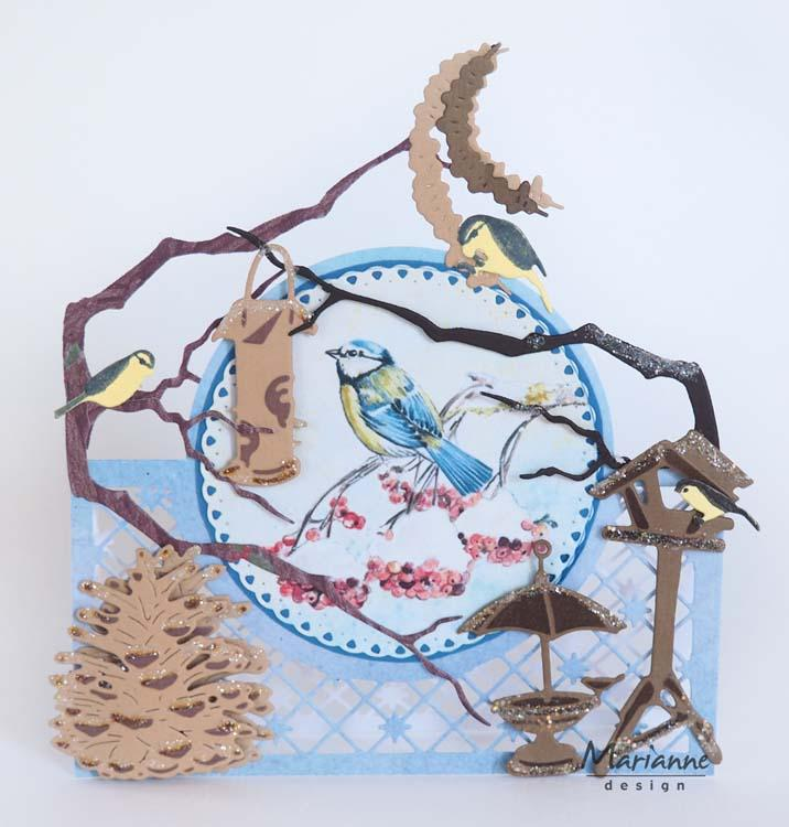Marianne Design Cutting Sheet Tiny's Birds in Winter