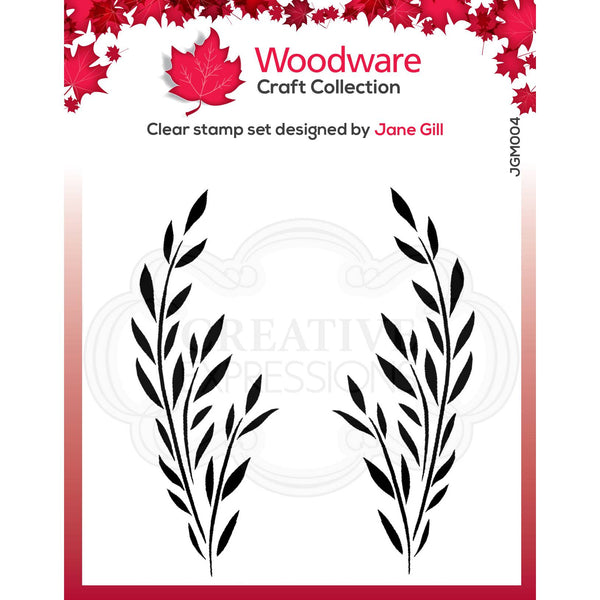 Woodware Clear Singles Bethany Leaf