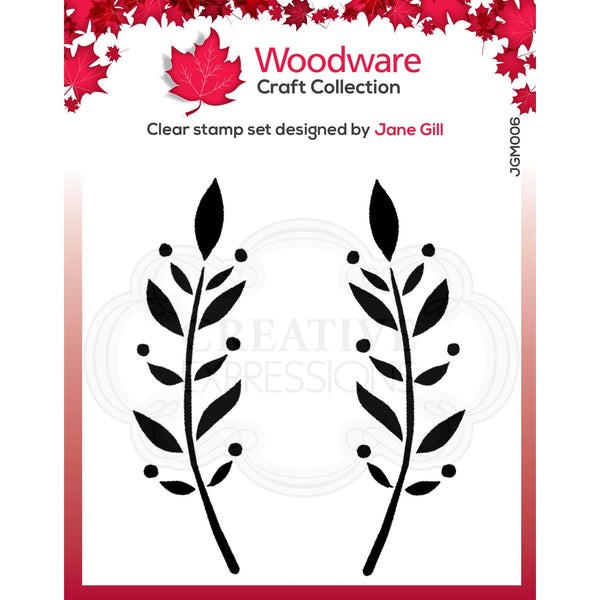 Woodware Clear Singles Dorothy Leaf
