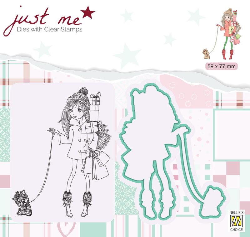 Just Me Stamp & Die Set Christmas Shopping