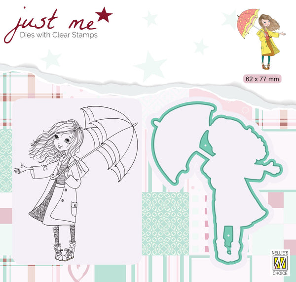 Just Me Stamp & Die Set Autumn Weather