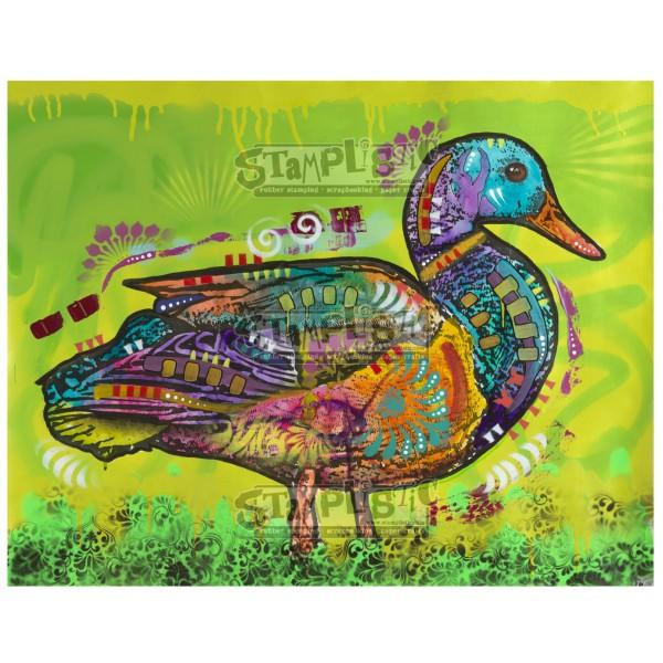 Electric Duck Rubber Stamp Dean Russo