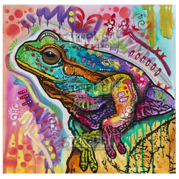 Psychedelic Frog Rubber Stamp Dean Russo