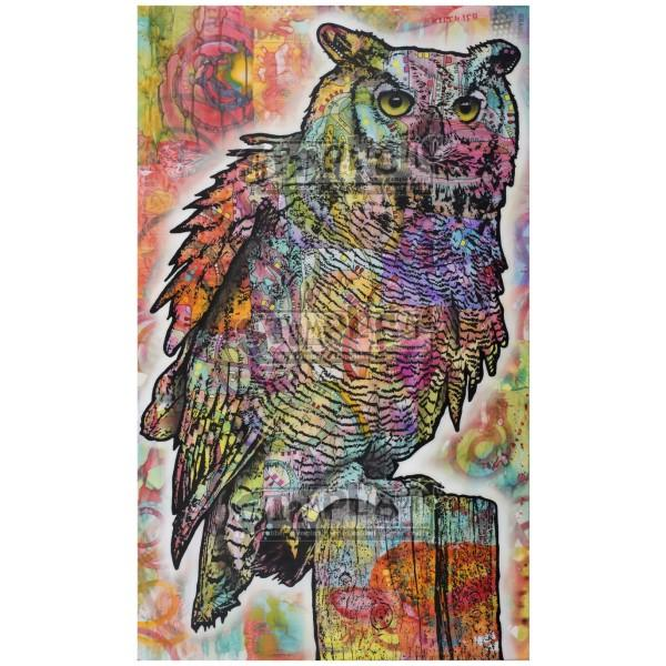 Owl Perch Rubber Stamp Dean Russo