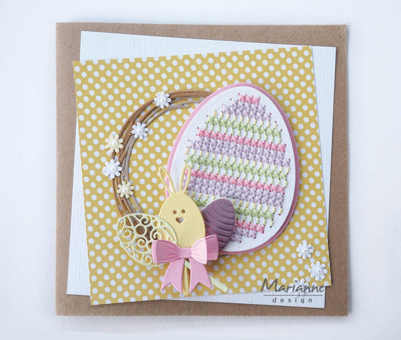 Craftables Cross Stitch Easter Egg Die