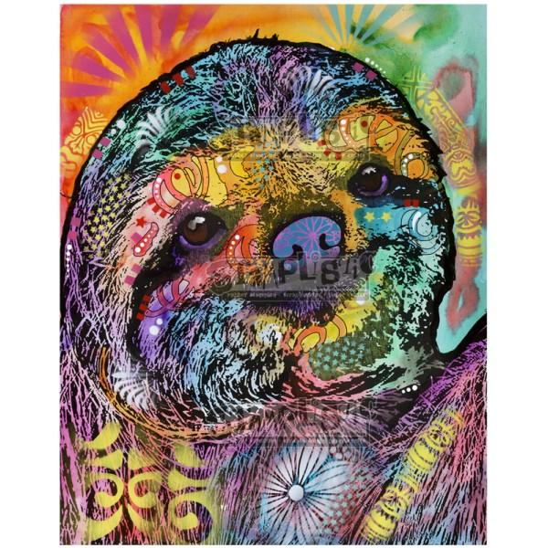 Sloth Smile Rubber Stamp Dean Russo