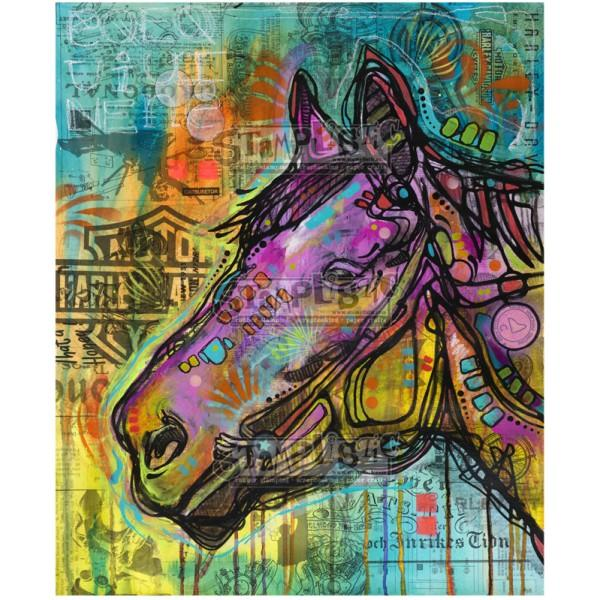 Horse Power Rubber Stamp Dean Russo