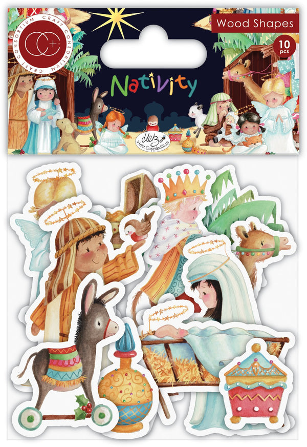 Nativity wood shapes