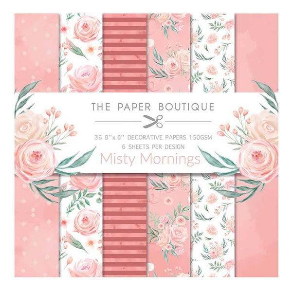 The Paper Boutique Misty Mornings 8x8 Paper Pad 150gsm