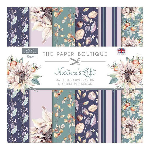 The Paper Boutique Nature's Gift 6x6 Paper Pad 160gsm