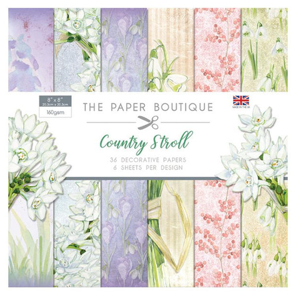 The Paper Boutique Country Stroll 8x8 Paper Pad