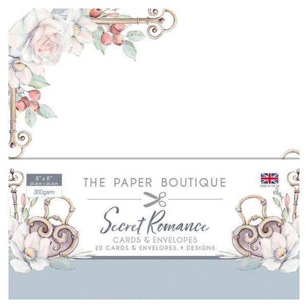 The Paper Boutique Secret Romance 8x8 Card & Envelope Pack