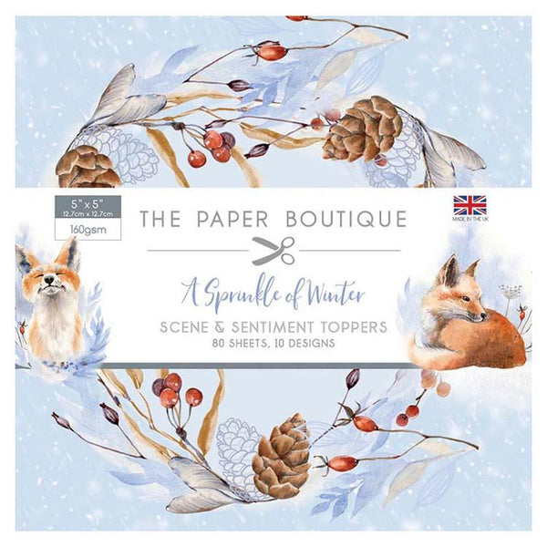The Paper Boutique A Sprinkle of Winter 5x5 Sentiments Pad