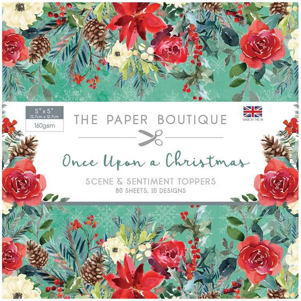 The Paper Boutique Once Upon a Christmas 5x5 Sentiments Pad
