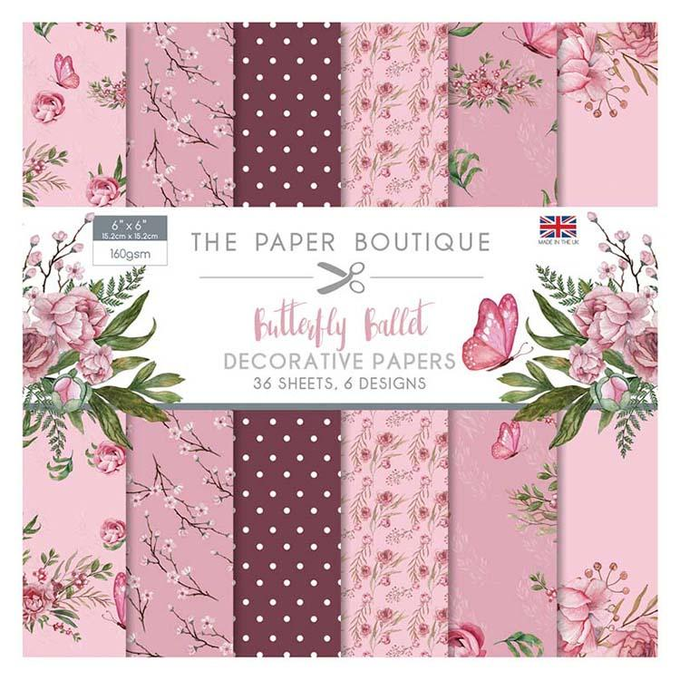The Paper Boutique Butterfly Ballet 6x6 Paper Pad