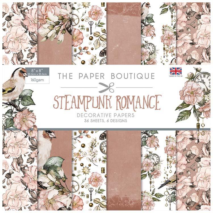 The Paper Boutique Steampunk Romance 8x8 Paper Pad