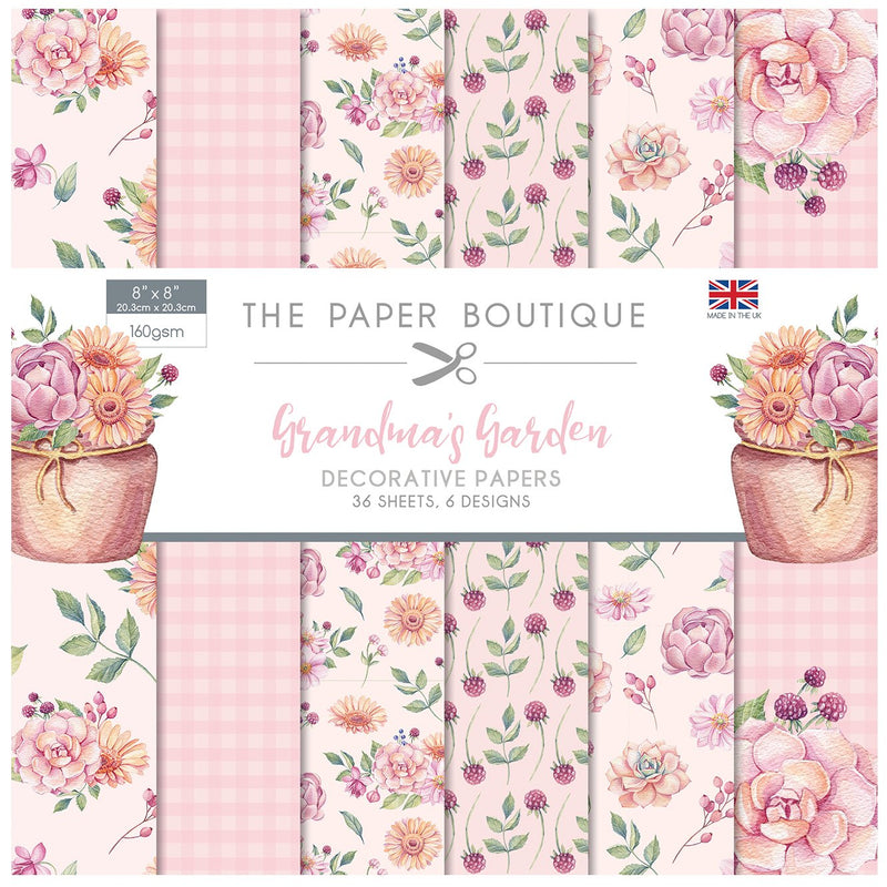 The Paper Boutique Grandma's Garden 8x8 Paper Pad