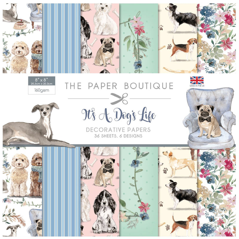 The Paper Boutique It's a Dogs Life 8x8 Paper Pad