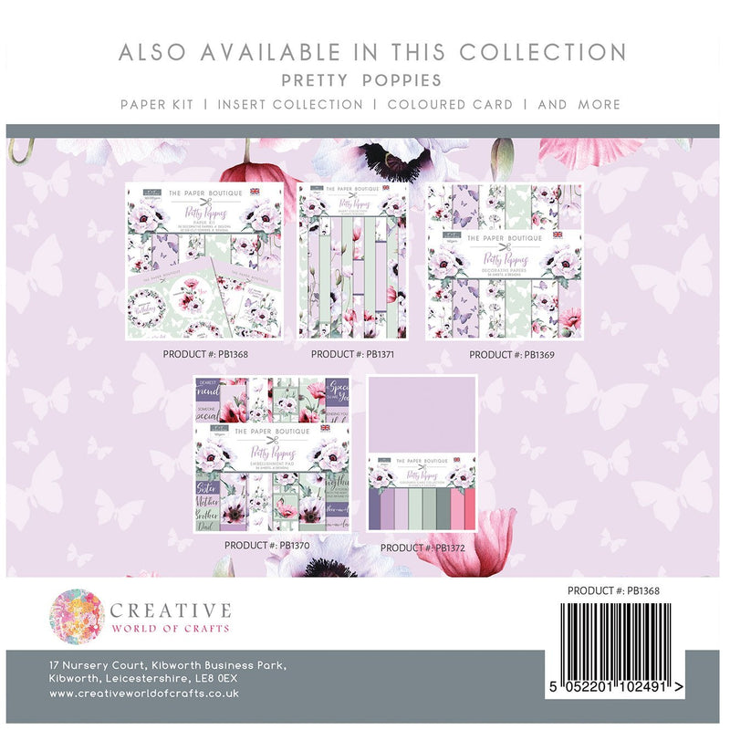 The Paper Boutique Pretty Poppies Paper Kit
