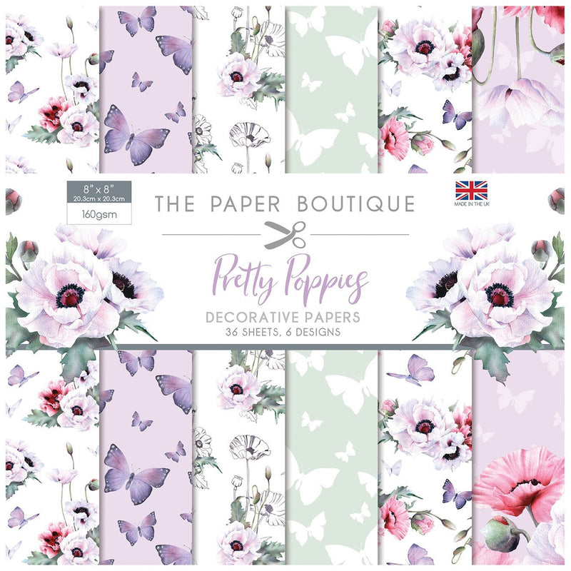 The Paper Boutique Pretty Poppies 8x8 Paper Pad