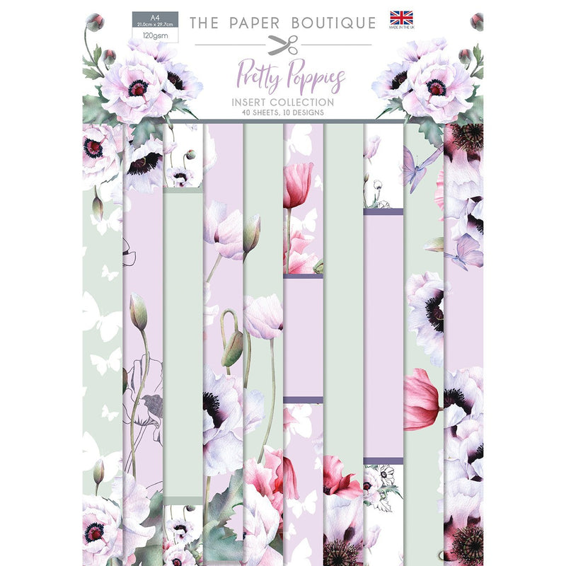 The Paper Boutique Pretty Poppies Insert Collection