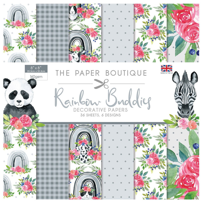 The Paper Boutique Rainbow Buddies 8x8 Paper Pad