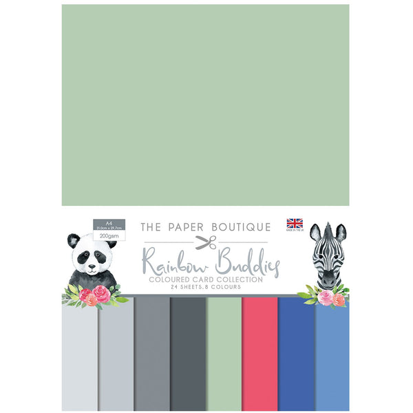 The Paper Boutique Rainbow Buddies Colour Card Collection