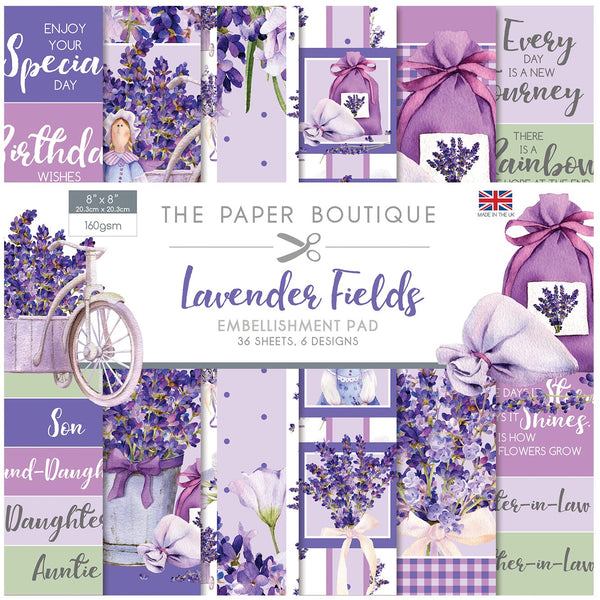 Lavender Fields 8x8 Embellishments Pad