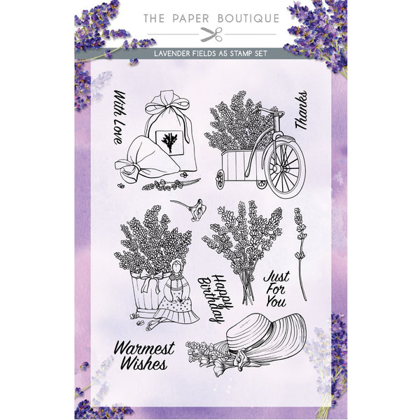 Lavender Fields A5 Stamp Set
