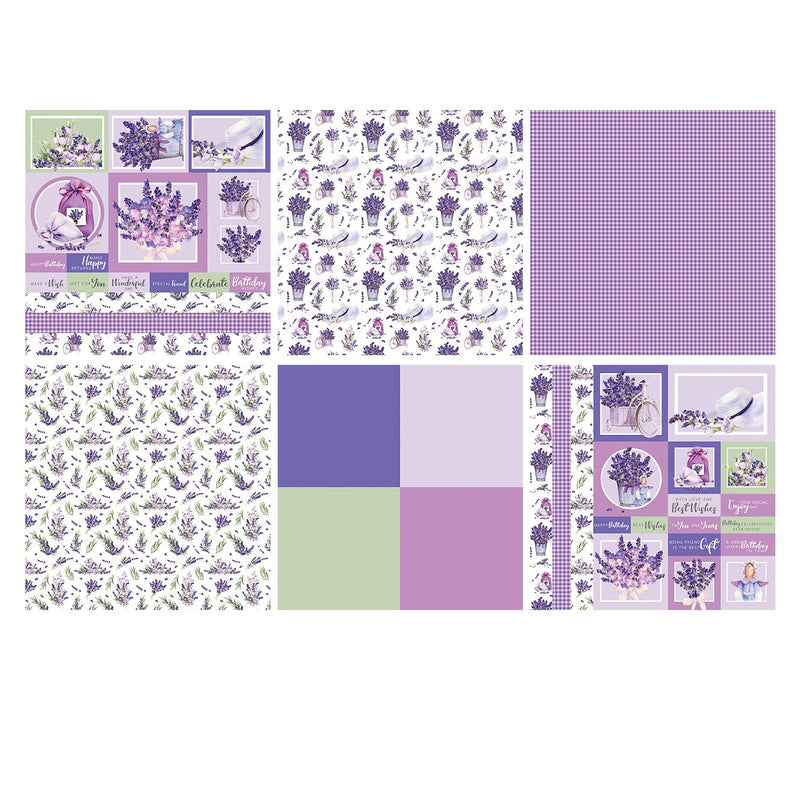 Lavender Fields 12x12 Card Making Pad
