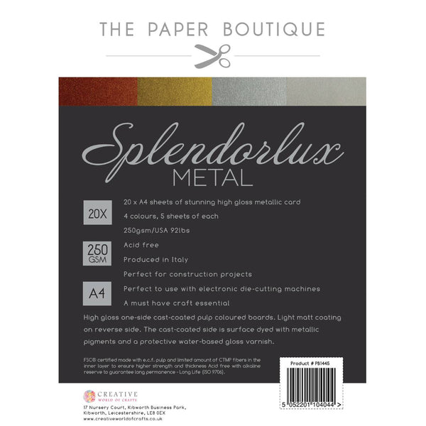 The Paper Boutique Splendorlux Metal Card