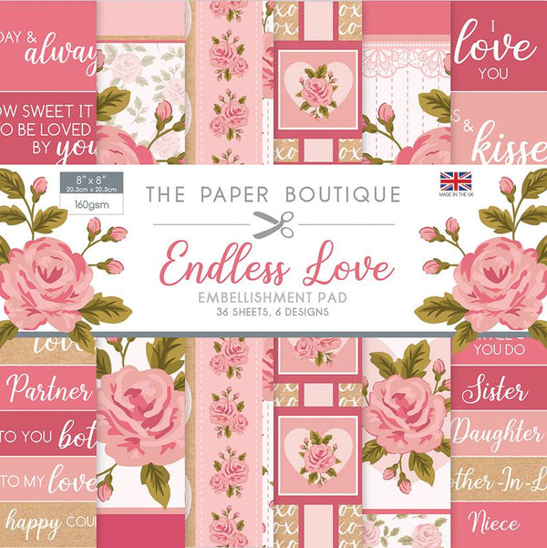 Endless Love 8x8 Embellishments Pad
