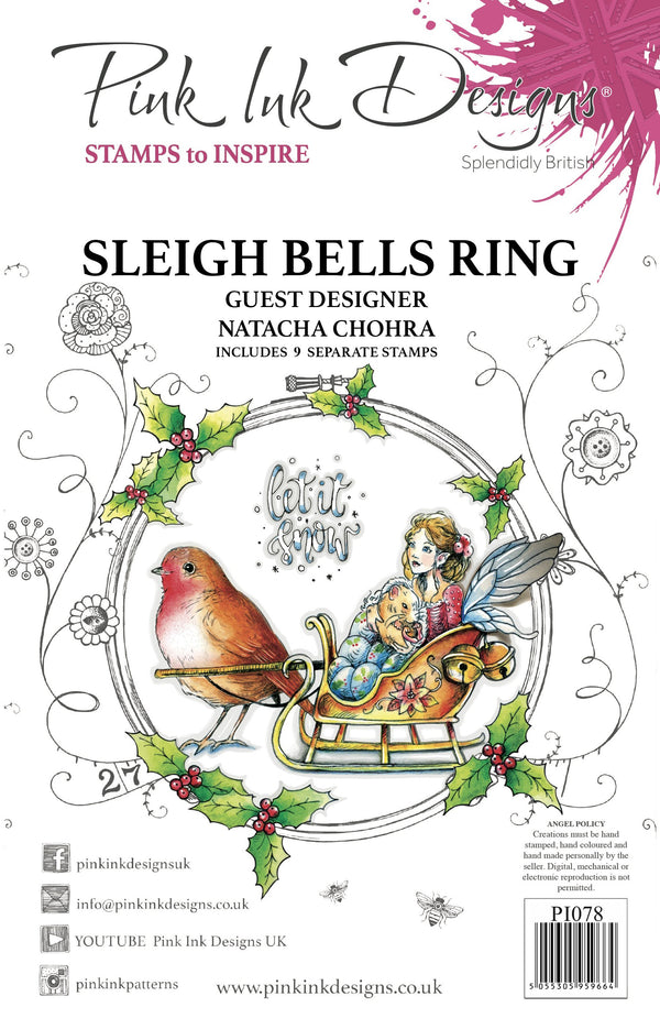 Sleigh Bells Ring A5 Clear Stamp Set